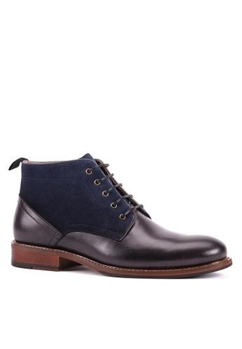 Twenty Eight Shoes Amber Leather Suede Brogue Boot 618-161 F47AESH144DA3DGS_1
