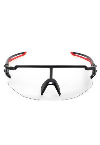 Hamlin red Elodie Kacamata Sepeda Unisex Lensa Photochromic Pneumatic UV Protection ORIGINAL Material Polycarbonate ORIGINAL - Black Red 0ADC9GL1DE7A91GS_1