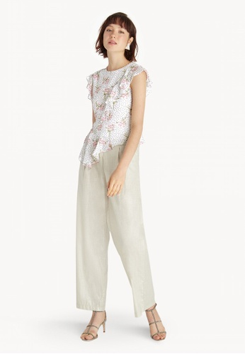 d52486e9016 Buy Pomelo Floral Asymmetric Top - White Online on ZALORA Singapore