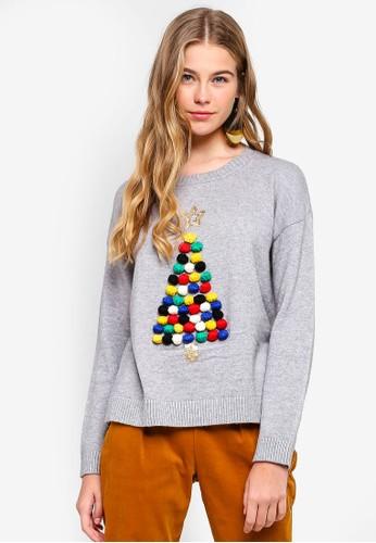 ESPRIT grey Yarn Long Sleeve Sweater C7B65AAA96613BGS_1