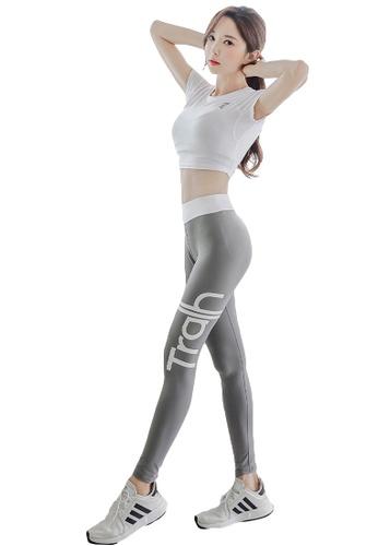 YG Fitness multi (3PCS) Sports Fitness Yoga Set (Sports Bra+Pants+Short T) 0B869USF6CF47BGS_1