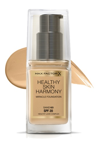 Max Factor beige Max Factor Healthy Skin Harmony Miracle SPF 20 Foundation , 30ml, 60 Sand 4D66DBEDBD2A2DGS_1