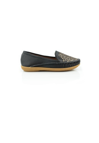 SHINE black Casual Crystal Flats SH554SH0GVJ2SG_1
