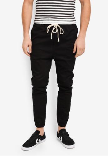 Flesh IMP black Yager Side Pocket Jogger Pants 0A4ACAA892D7F4GS_1