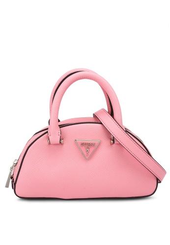 Guess pink Cordelia Mini Top Handle Bag 9B1A9ACAAC161EGS_1