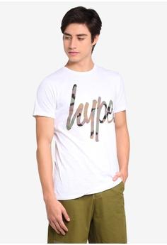 36821872 Just Hype white Hype Camo Script T-Shirt C575BAAA1E7603GS_1
