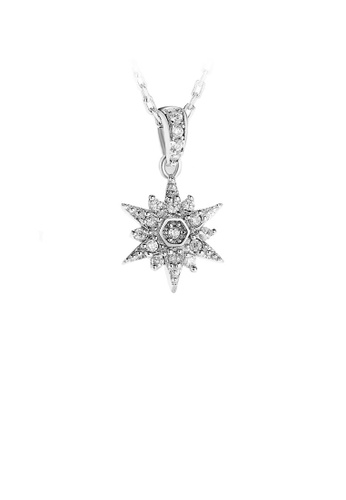 Glamorousky white 925 Sterling Silver Snowflake Pendant with White Austrian Element Crystal and Necklace 2E1AAAC0C76741GS_1