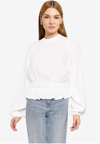 OVS white Puff Sleeves Angel Blouse 5CAEEAAB0B8AA0GS_1