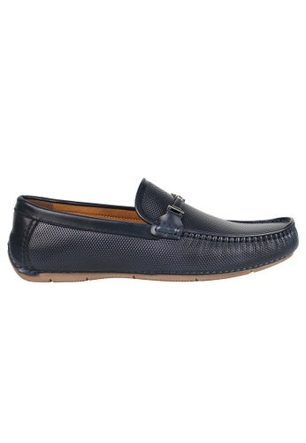 Tomaz blue Tomaz C361 Front Buckled Loafers (Navy) 11440SHFC16AE1GS_1
