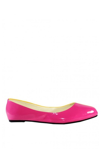Liza Lyn pink and yellow Klassie Doree Flats LI218SH0JMWJPH_1