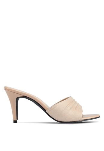 Bata beige Bata Gathered Detail Heels 5F9D8SH4DC8D0DGS_1