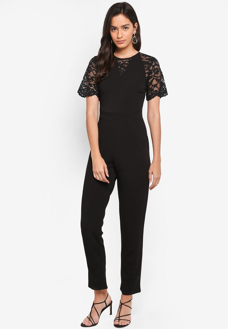 Lace Black Jumpsuit Mix Dorothy Perkins 71gq5cPR