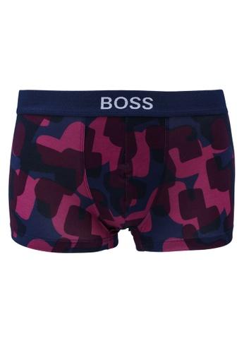 BOSS purple Printed Trunks - BOSS Bodywear 66FDEUSEC66B9AGS_1