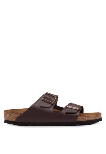 Birkenstock brown Arizona Birko-Flor Sandals BBA63SH5C2042BGS_1