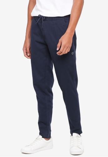 ESPRIT 海軍藍色 抽繩修身長褲 D0AC8AA3D6035FGS_1