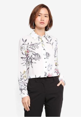Wallis beige Floral Print Shirt F0B58AA419B415GS_1