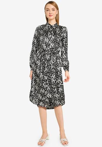 Vero Moda 黑色 Becky Long Sleeve Shirt Dress EF467AAC1B5C40GS_1