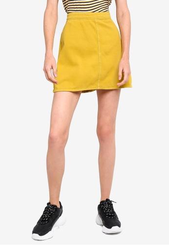 Cotton On yellow Denim Aline Skirt 1725EAA8688AE5GS_1