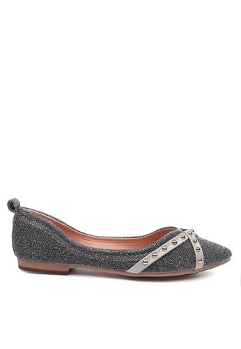 Twenty Eight Shoes grey Comfort Cross Strap and Studded Ballerinas VL90289 22C36SHCA1BC33GS_1