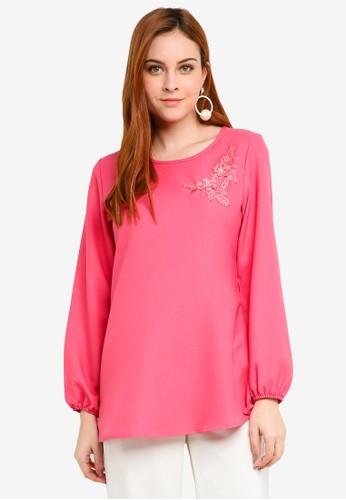 BYN pink Muslimah Blouse C58BEAACD68230GS_1