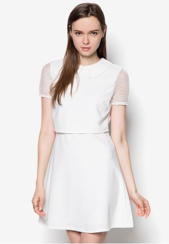 esprit 香港Monaco 薄紗層次洋裝, 服飾, 洋裝