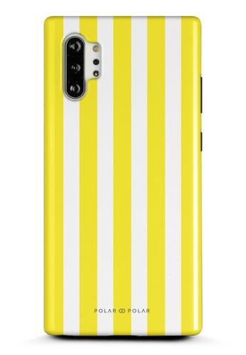 Polar Polar yellow Yellow Stripe Samsung Galaxy Note10 Plus Dual-Layer Protective Phone Case (Glossy) 755D3AC996306DGS_1