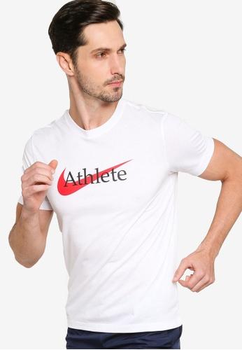 Nike white AS Men's Dri-FIT Swoosh Training T-Shirt EEC1EAAC6F25A9GS_1