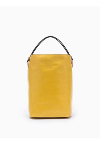 Calvin Klein yellow Cinched Bucket Bag 6D4CFAC227E1DAGS_1