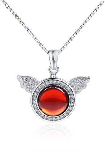 LYCKA red and silver LPP88146 S925 Silver Necklace 41BFBAC12E5755GS_1
