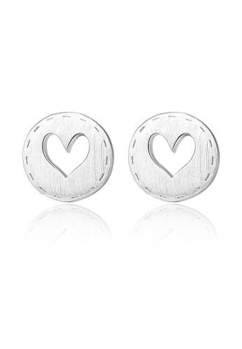 SUNRAIS silver High quality Silver S925 silver heart earrings 82E24ACD0A5385GS_1