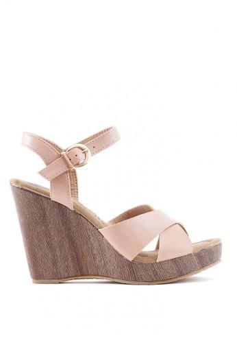 7soles beige Aaliyah Wedge Sandals F318CSH491766AGS_1