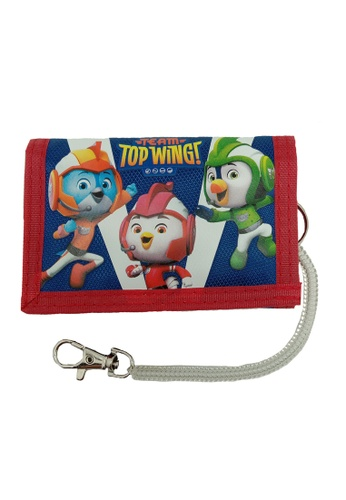 Top Wing red and navy Top Wing Tri Fold Wallet EC3D6KC81ACAC4GS_1
