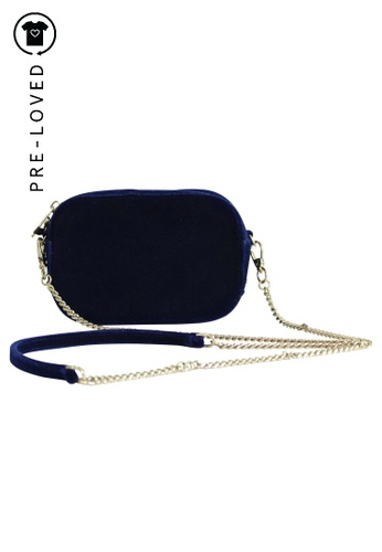 Contemporary Designer blue Pre-Loved contemporary designer Pop & Suki Velvet Camera Bag F4F85AC15CF20BGS_1