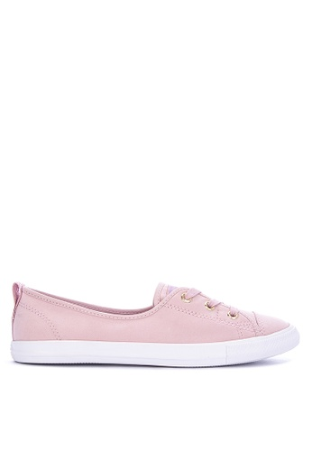a81ad6cee9d Converse pink Chuck Taylor All Star - Ballet Lace Summer Palms Sneakers  3EF52SHABBB128GS_1