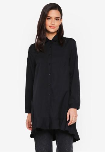 Lubna black Overlap Back Shirt Dress 36ED6AA70298CEGS_1