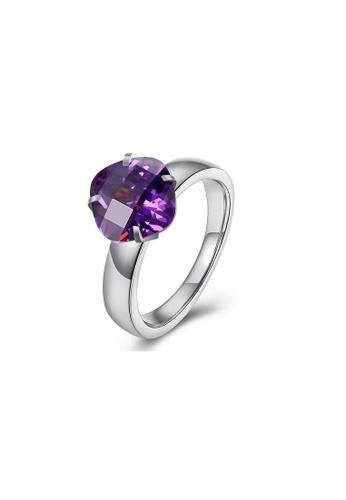 ADORA Stainless Steel Zircon Ring AD365AC77PWOHK_1