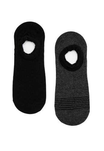 KOTON grey Knit Invisible Socks 92928AA3325503GS_1