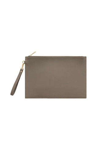 Knocks grey Large Clutch Bag Grey 7E5C1AC167CE20GS_1