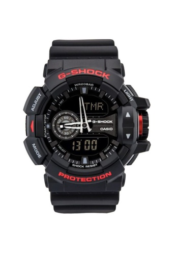 CASIO black Casio G-Shock Red and Black Resin Watch 6FDE9ACE9E3C2EGS_1