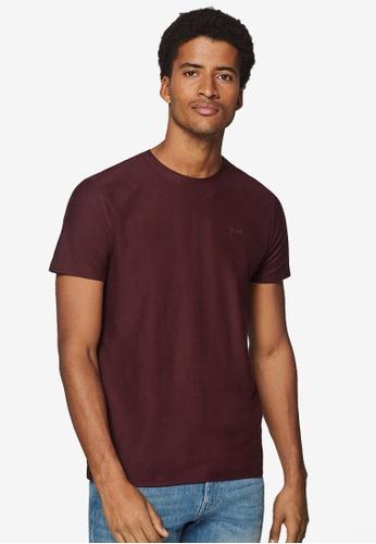 ESPRIT 紅色 品牌刺繡T恤 49EEDAA10892AFGS_1