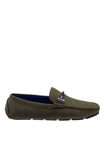Antton & Co green Antton & Co Flower  - Buckle Loafer In Green 9A450SH6C97D32GS_1