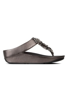 9e640206a Fitflop silver Fitflop Rumba Toe-Thong Sandals Pewter 78171SHAB46186GS 1