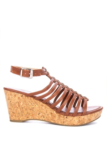 023f66b6ca04 Shop Alberto Strappy Wedge Sandals Online on ZALORA Philippines