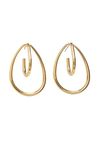 Mango gold Mixed Pieces Earrings C11CCAC40DE62BGS_1