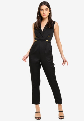 17e0f870f415 Buy MISSGUIDED Military Button Sleeveless Jumpsuit Online on ZALORA  Singapore