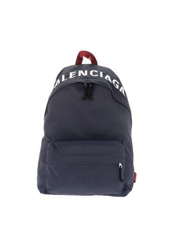 BALENCIAGA navy Balenciaga Wheel Backpack in Navy for UNISEX 18209ACAD7DD53GS_1