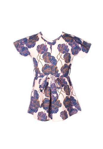 Mini Moley pink Neon Peony Print Flare Dress 4DA9BKA484416AGS_1