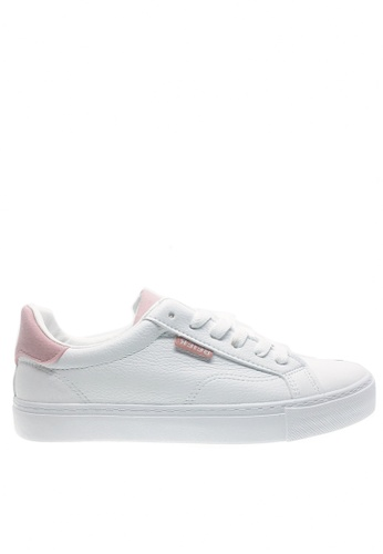 Twenty Eight Shoes white and pink Basic Lace Up Sneakers 6827 TW446SH2V54DHK_1