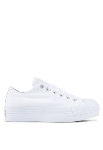 Converse white Chuck Taylor All Star Dainty Platform Sneakers CO302SH0RNHUMY_1