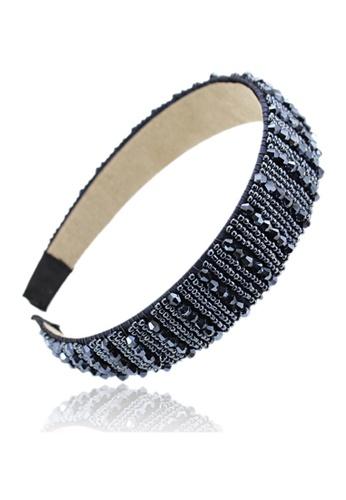 Kings Collection blue Korean Rhinestone Headband (HA20002) 95E14AC8C85006GS_1
